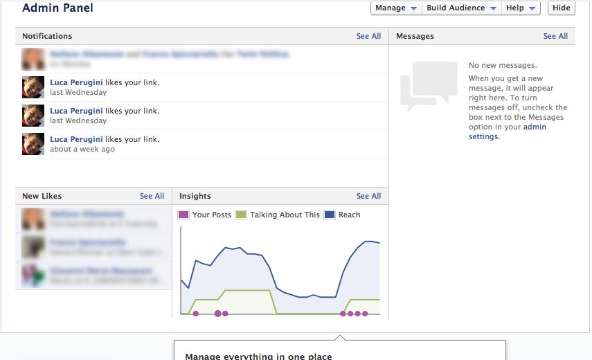 FB Fanpage Timeline admin panel