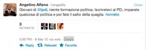 Angelino Alfano fake @angeaifa viene RT