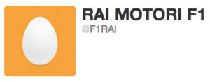 La RAI apre @F1RAI su Twitter