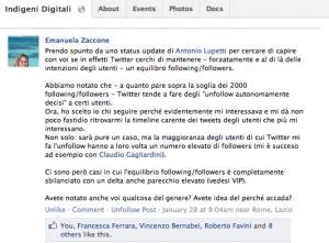 Twitter bug: Emanuela Zaccone 28 gennaio 2012