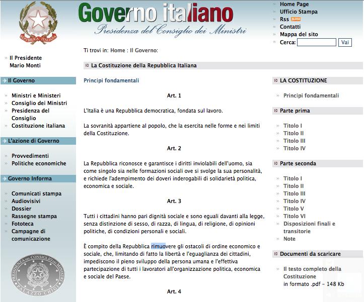 """Digital Divide? art 3 Cost Italiana: """"..rimuovere gli ostacoli di ordine economico e sociale.."""""""