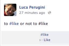 hashtag Facebook: confusione