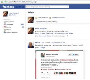 hashtag Facebook: acceso tramite url